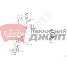 Опора двигателя задняя Х7 1,8 (1016003010)