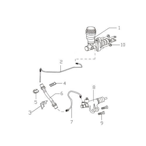 Цилиндр сцепления рабочий PLUTUS 1609010-BAB